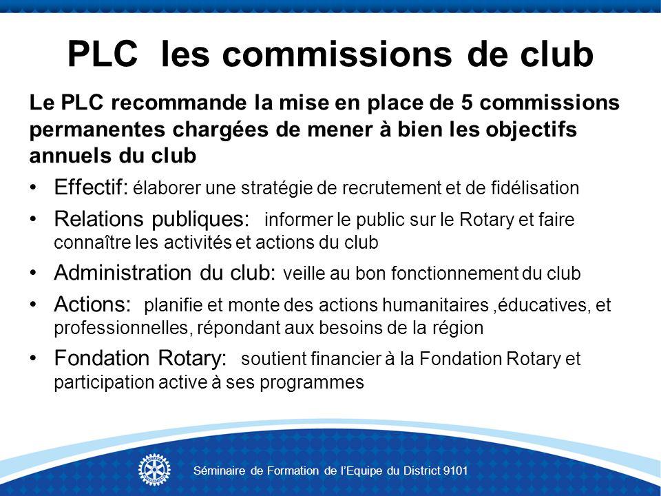 PLC les commissions de club