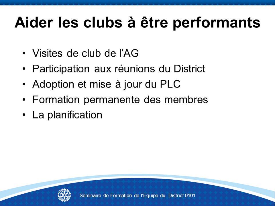 Aider les clubs à être performants