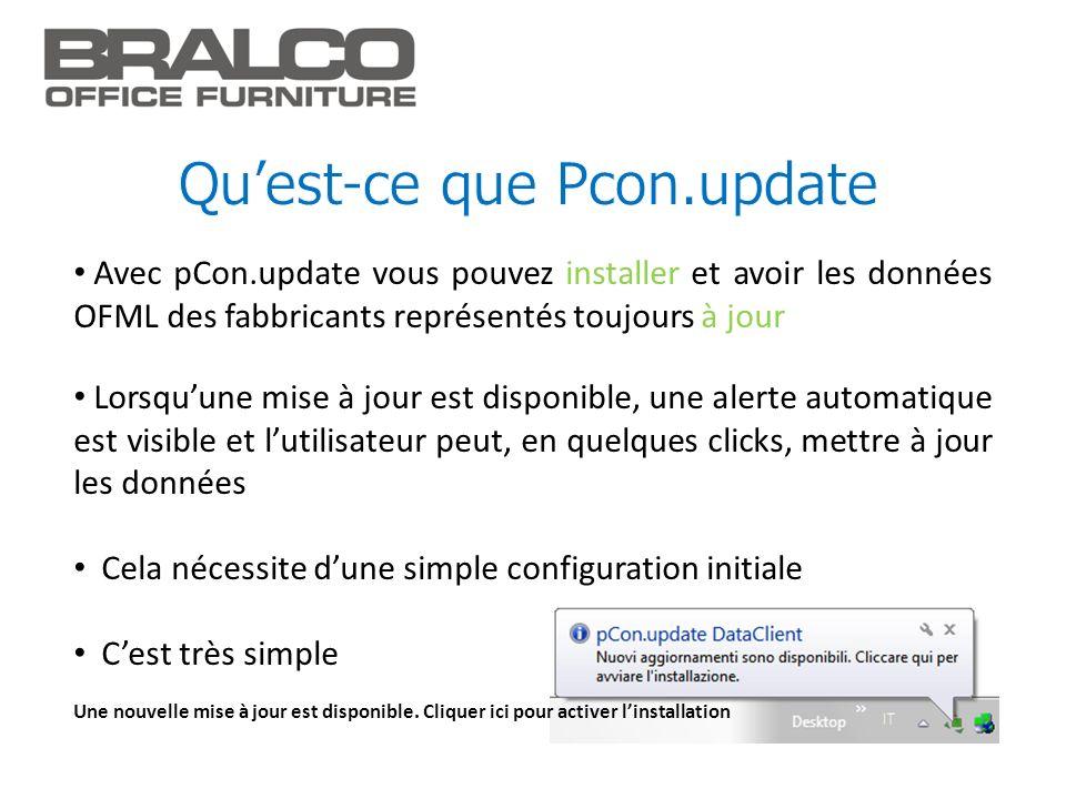 Qu'est-ce que Pcon.update