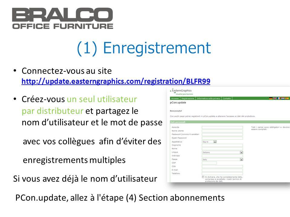 (1) Enregistrement Connectez-vous au site http://update.easterngraphics.com/registration/BLFR99.