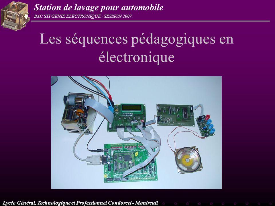 Les séquences pédagogiques en électronique