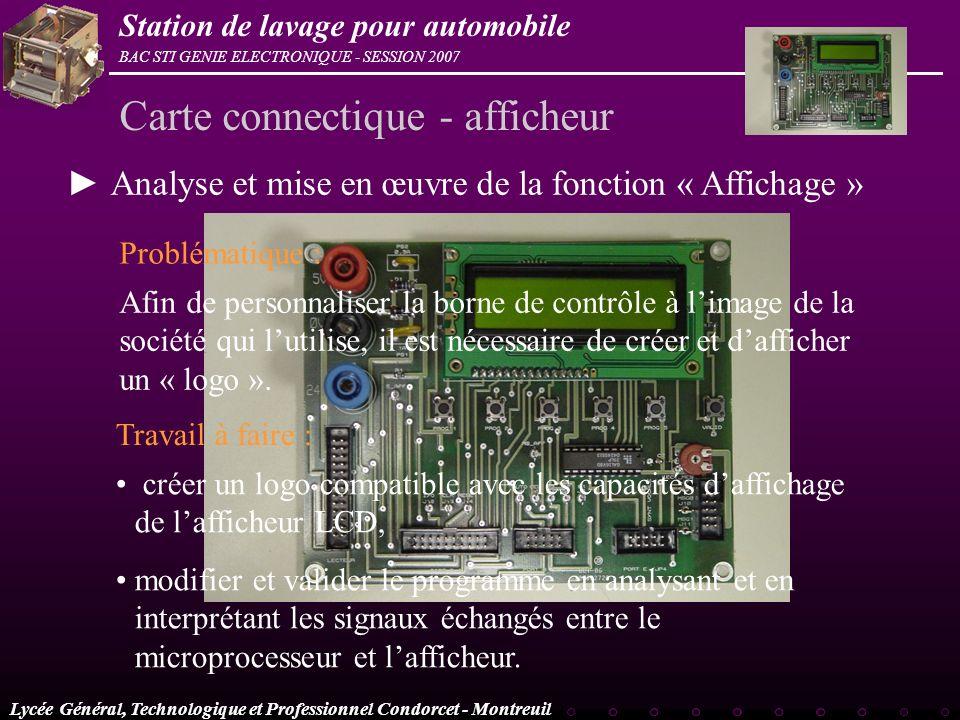 Carte connectique - afficheur
