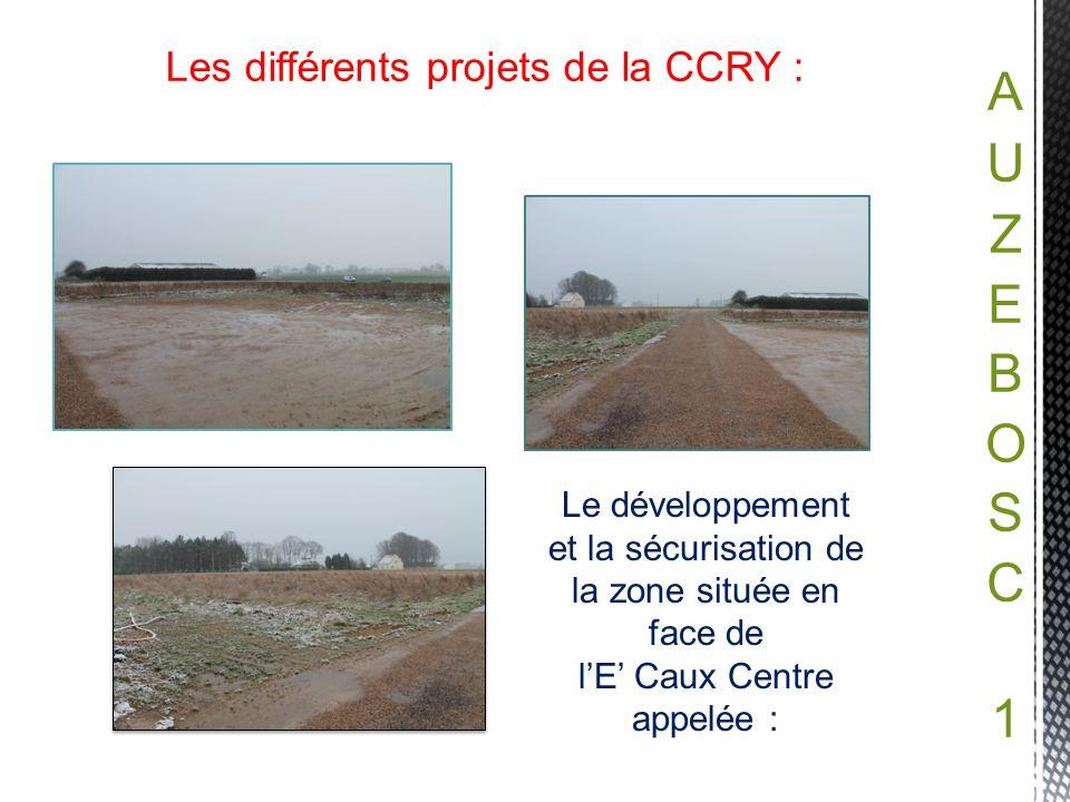 Les différents projets de la CCRY :