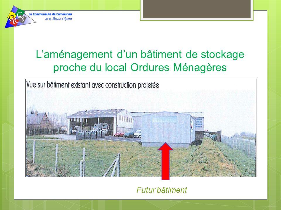 L'aménagement d'un bâtiment de stockage proche du local Ordures Ménagères