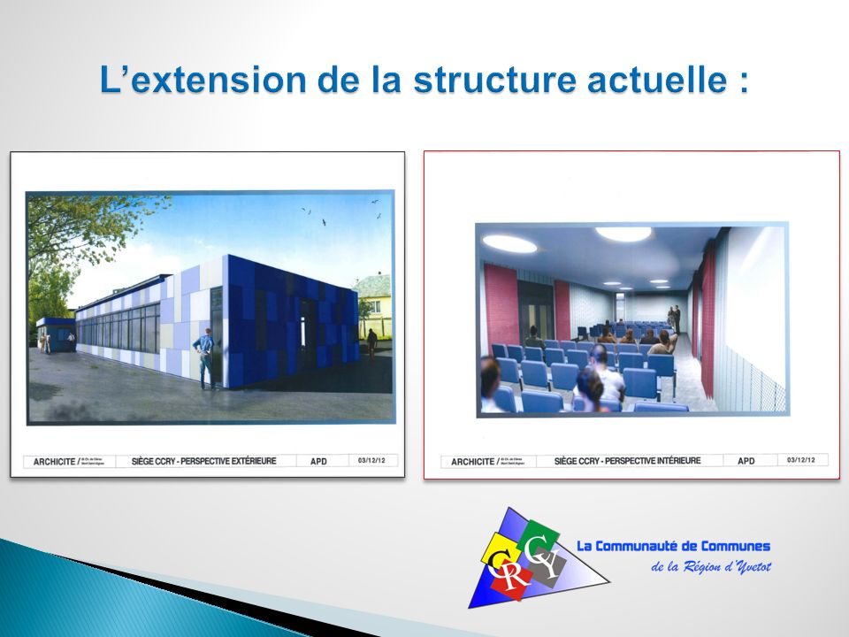 L'extension de la structure actuelle :