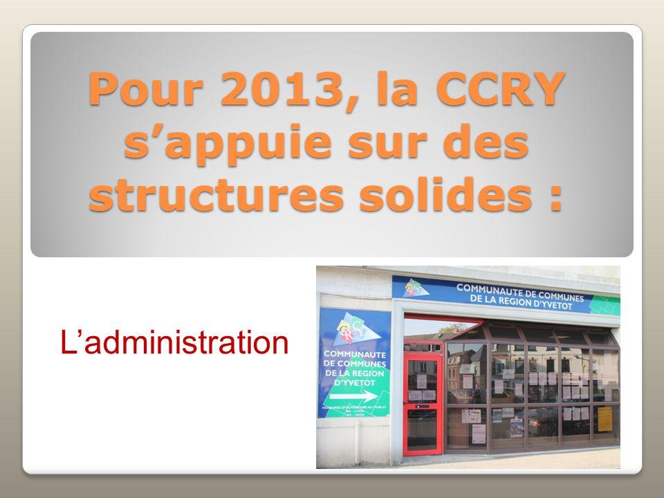 Pour 2013, la CCRY s'appuie sur des structures solides :