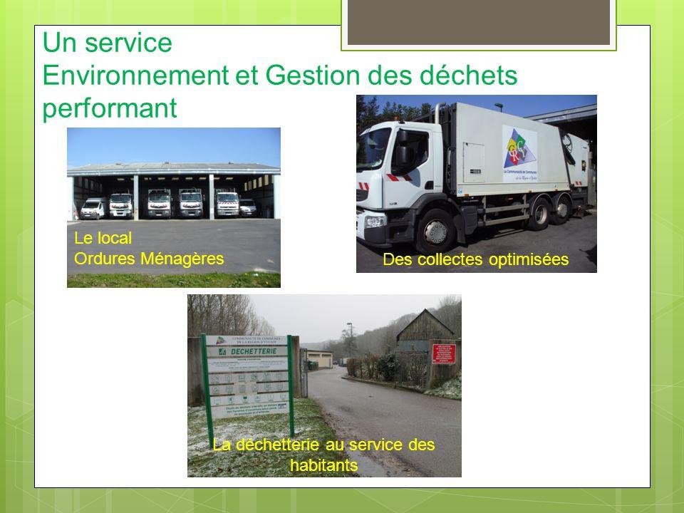 Un service Environnement et Gestion des déchets performant
