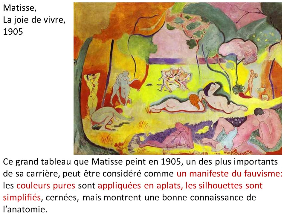 Matisse, La joie de vivre, 1905.