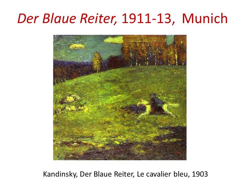 Der Blaue Reiter, 1911-13, Munich