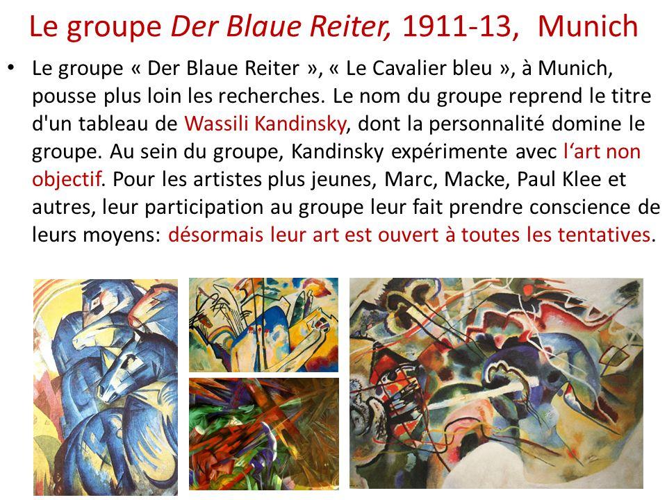 Le groupe Der Blaue Reiter, 1911-13, Munich