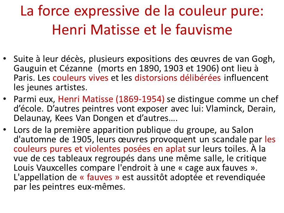 La force expressive de la couleur pure: Henri Matisse et le fauvisme