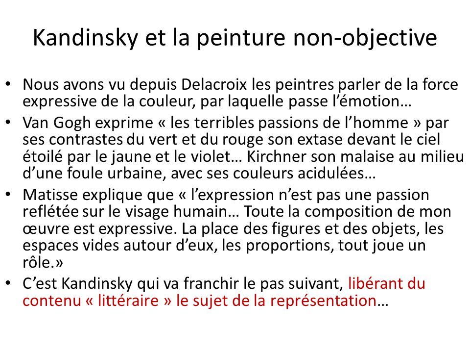 Kandinsky et la peinture non-objective
