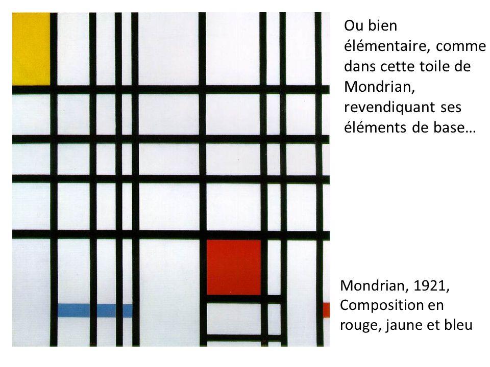 Mondrian, 1921, Composition en rouge, jaune et bleu