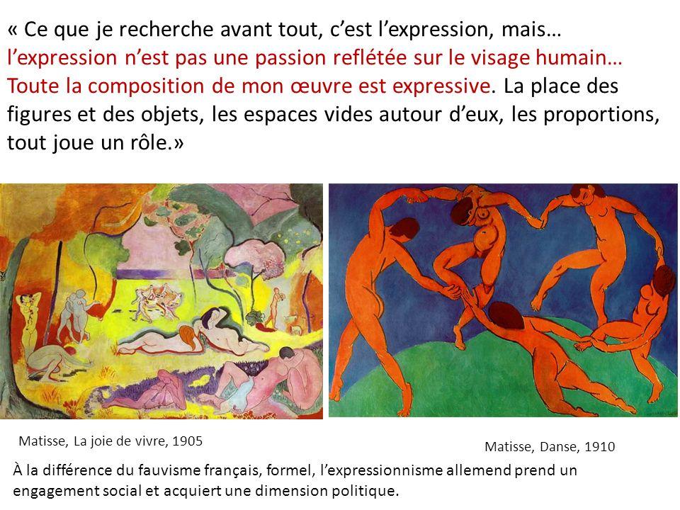 « Ce que je recherche avant tout, c'est l'expression, mais… l'expression n'est pas une passion reflétée sur le visage humain… Toute la composition de mon œuvre est expressive. La place des figures et des objets, les espaces vides autour d'eux, les proportions, tout joue un rôle.»
