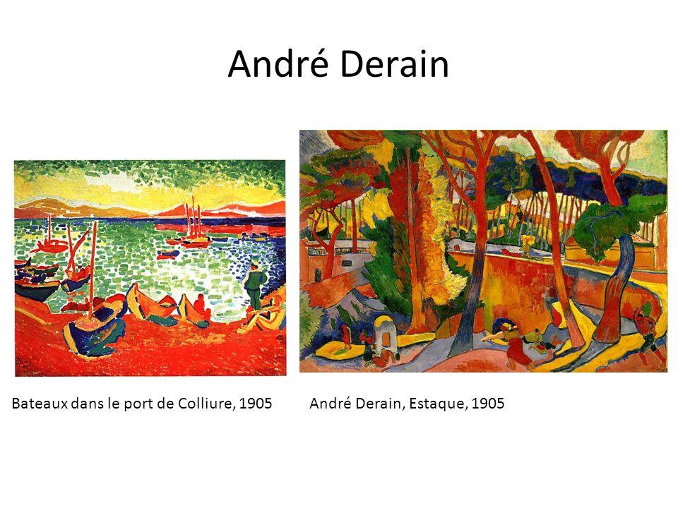 André Derain Bateaux dans le port de Colliure, 1905