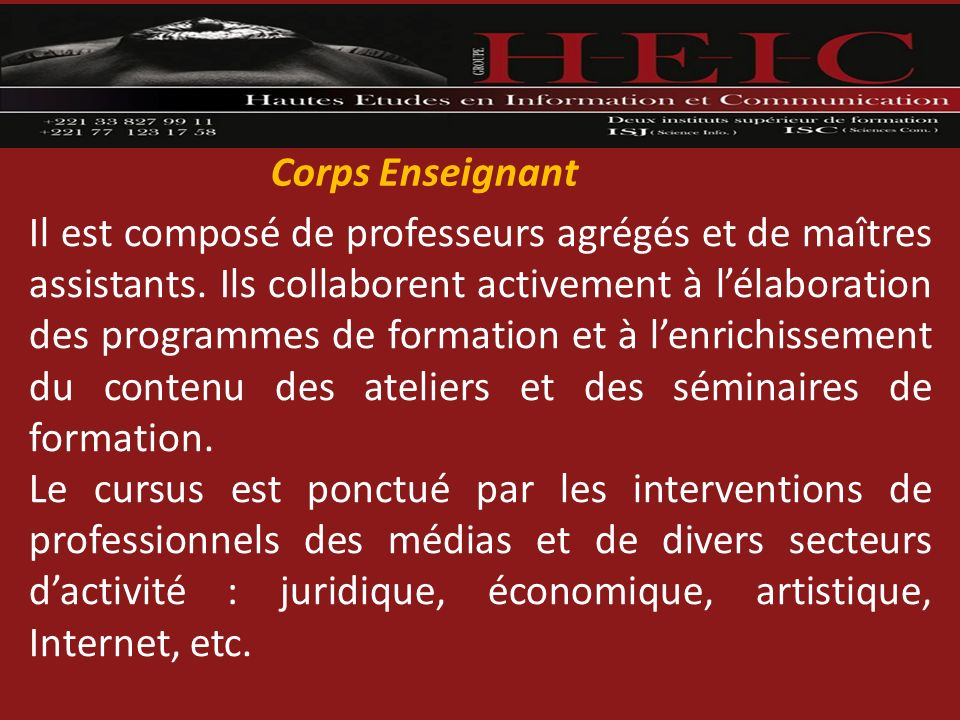 Corps Enseignant