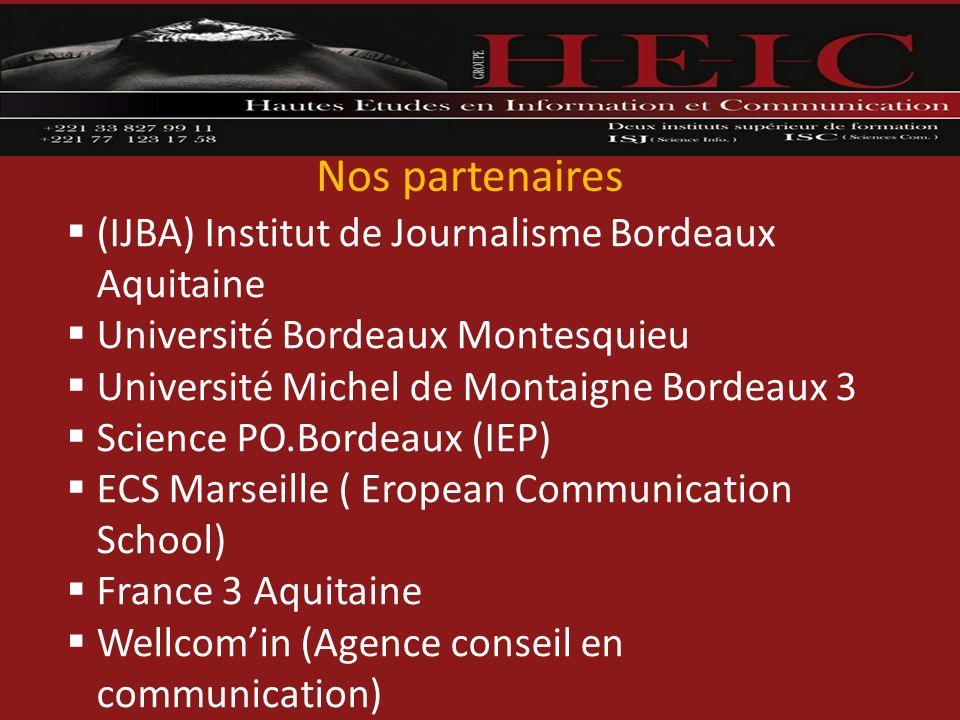 Nos partenaires (IJBA) Institut de Journalisme Bordeaux Aquitaine