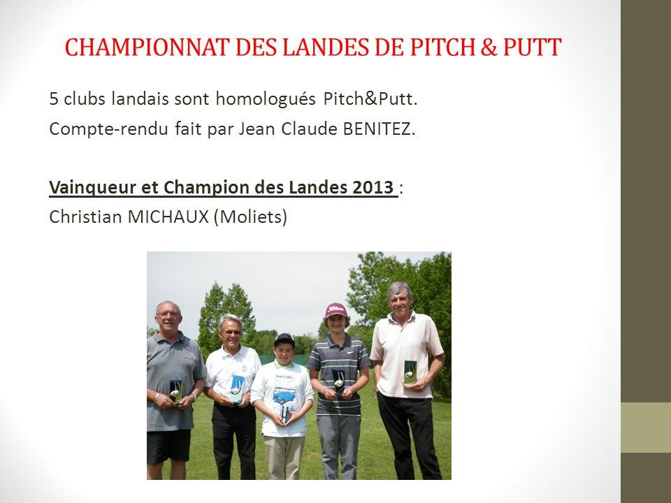 CHAMPIONNAT DES LANDES DE PITCH & PUTT