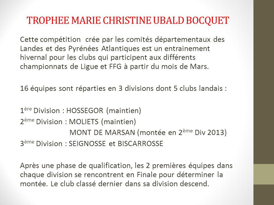 TROPHEE MARIE CHRISTINE UBALD BOCQUET