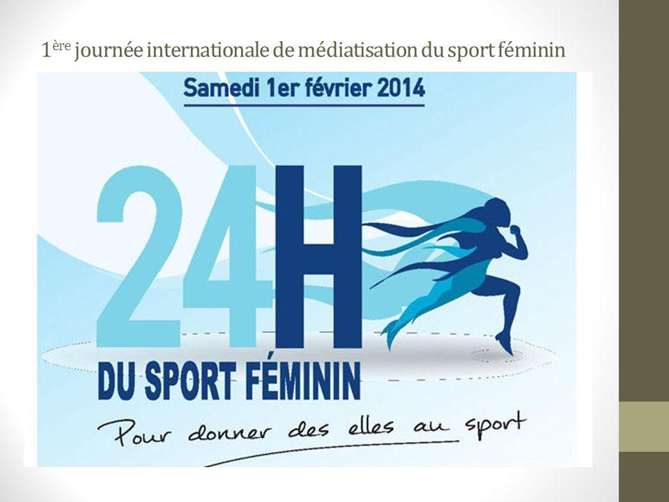 1ère journée internationale de médiatisation du sport féminin