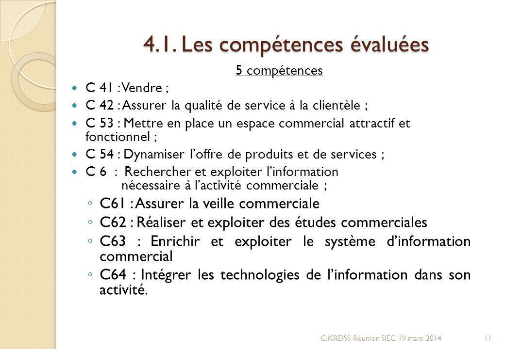 4.1. Les compétences évaluées