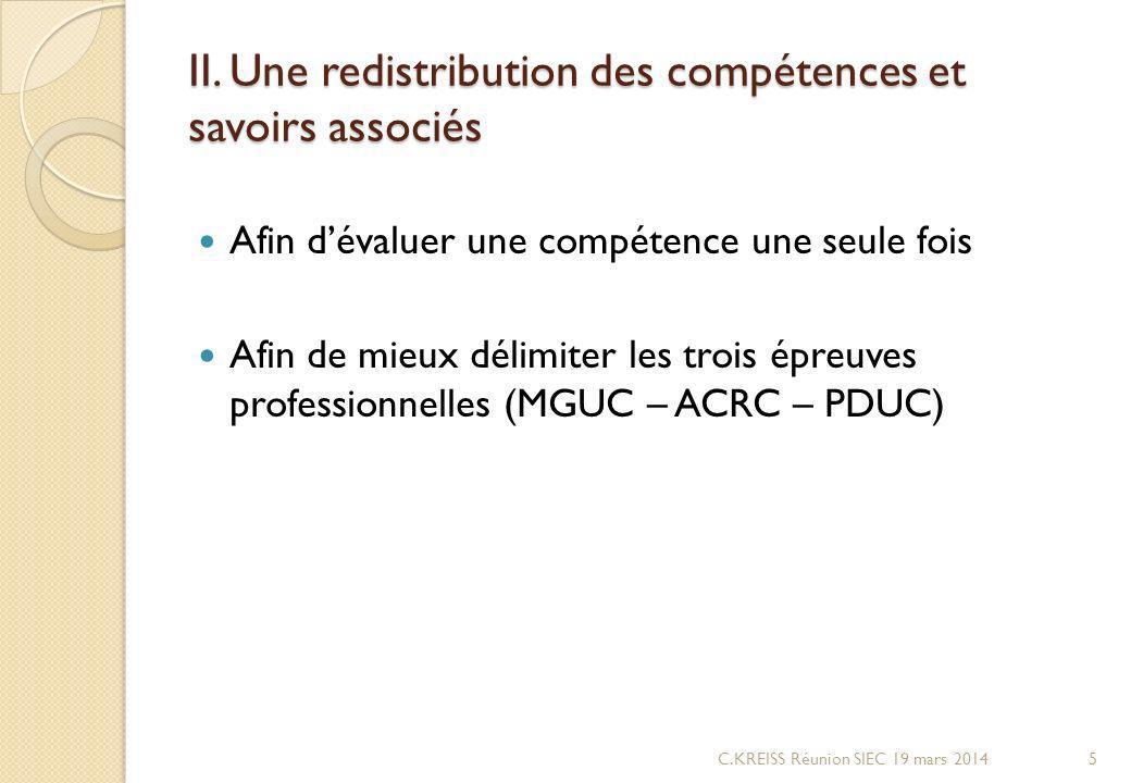 II. Une redistribution des compétences et savoirs associés