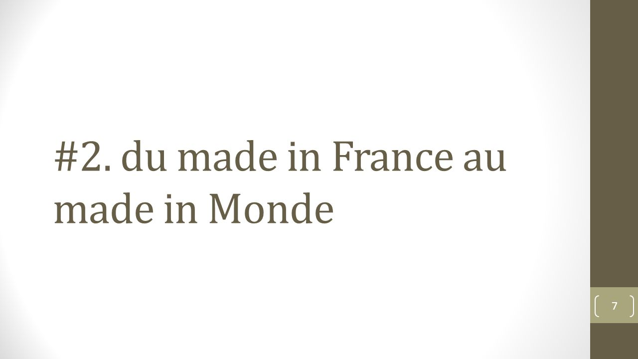 #2. du made in France au made in Monde