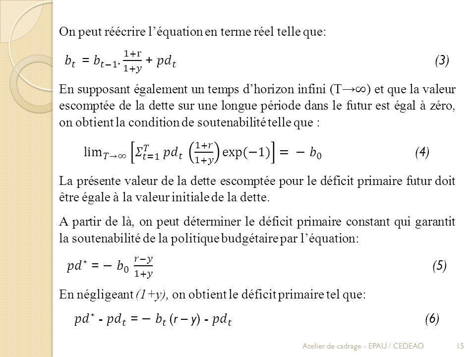 On peut réécrire l'équation en terme réel telle que: 𝑏 𝑡 = 𝑏 𝑡−1