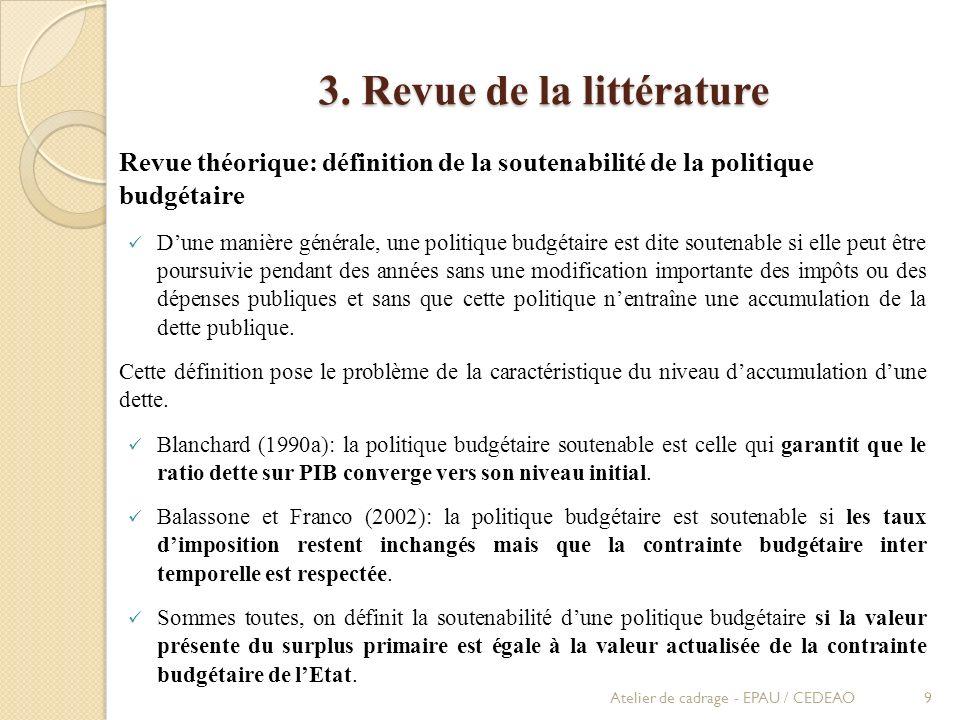 3. Revue de la littérature