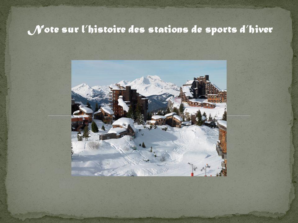 Note sur l'histoire des stations de sports d'hiver