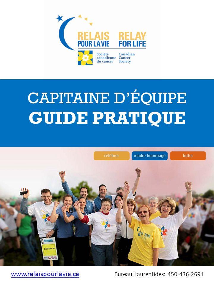 GUIDE PRATIQUE CAPITAINE D'ÉQUIPE