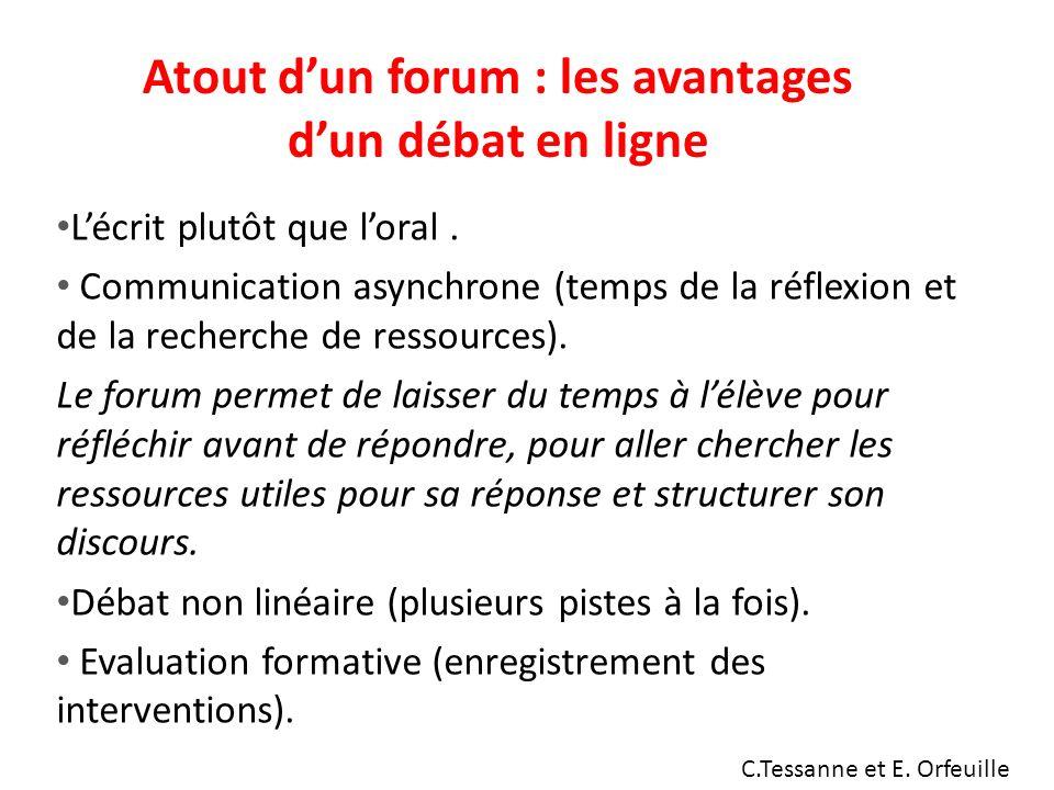 Atout d'un forum : les avantages d'un débat en ligne