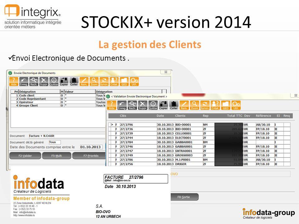 STOCKIX+ version 2014 La gestion des Clients