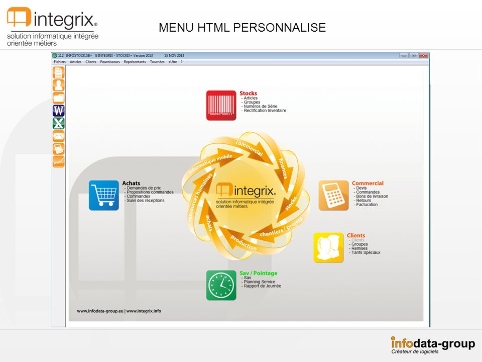 MENU HTML PERSONNALISE