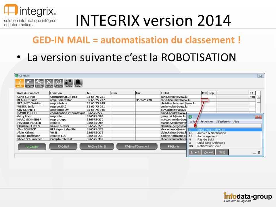 GED-IN MAIL = automatisation du classement !