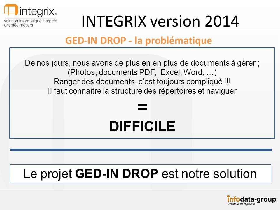 = INTEGRIX version 2014 DIFFICILE