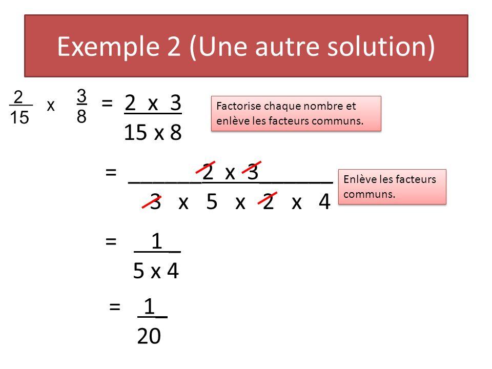 Exemple 2 (Une autre solution)