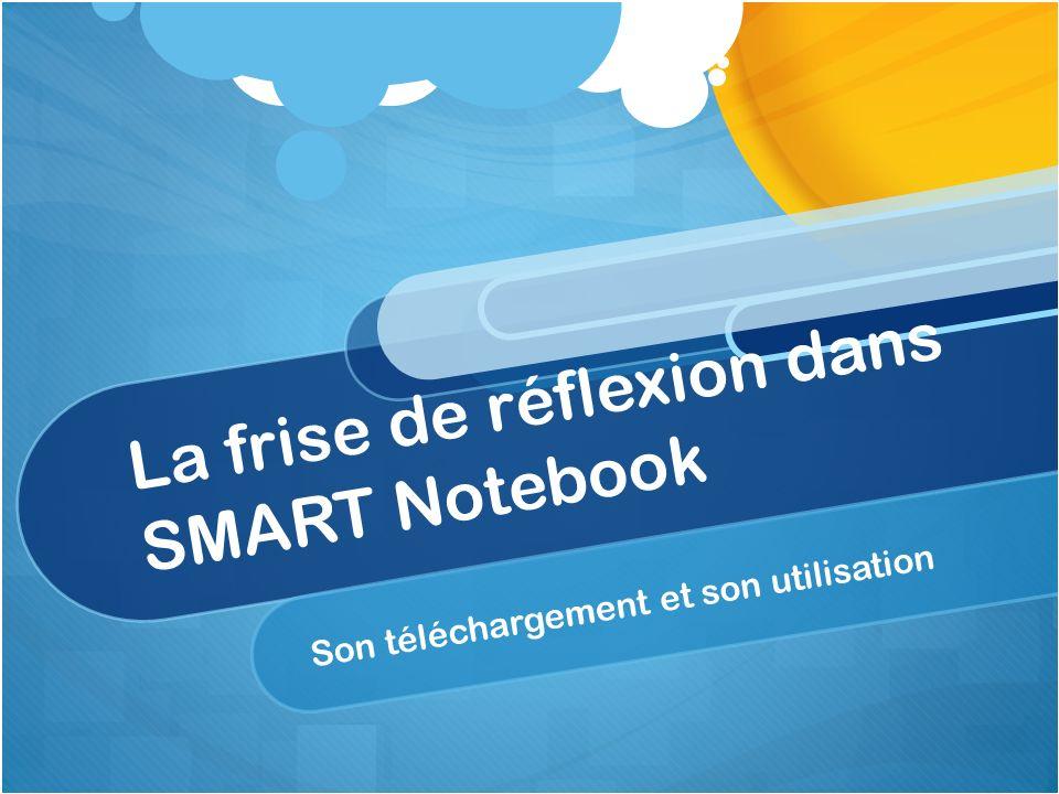 La frise de réflexion dans SMART Notebook