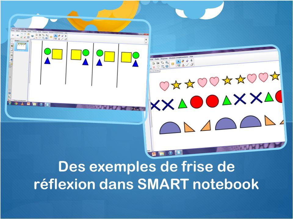 Des exemples de frise de réflexion dans SMART notebook