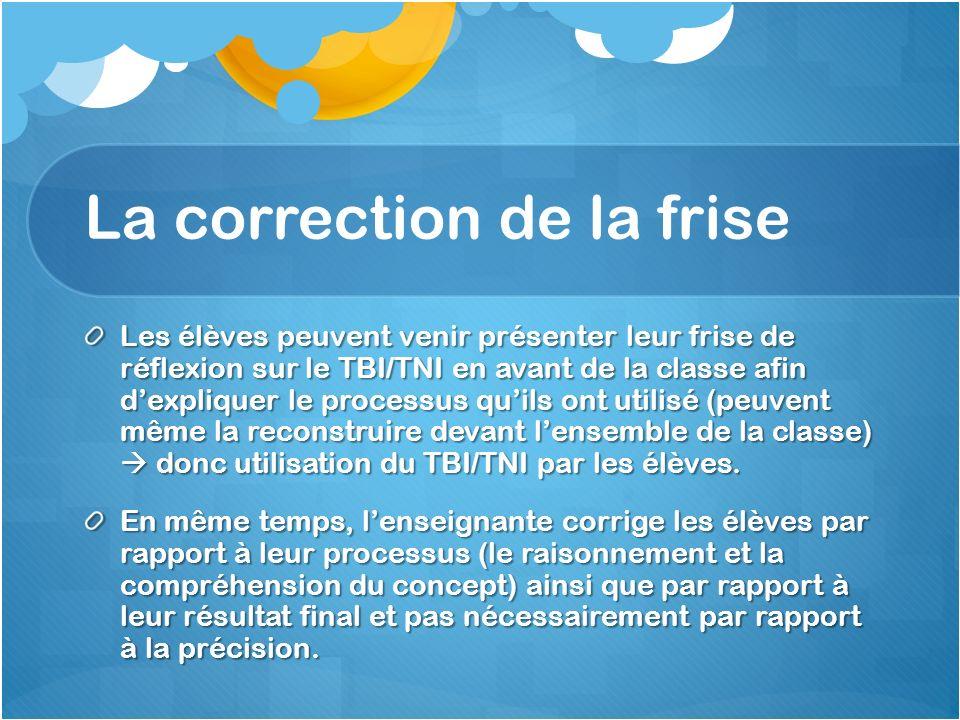 La correction de la frise