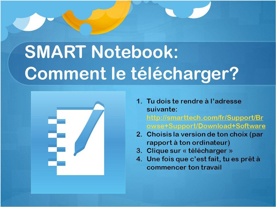 SMART Notebook: Comment le télécharger