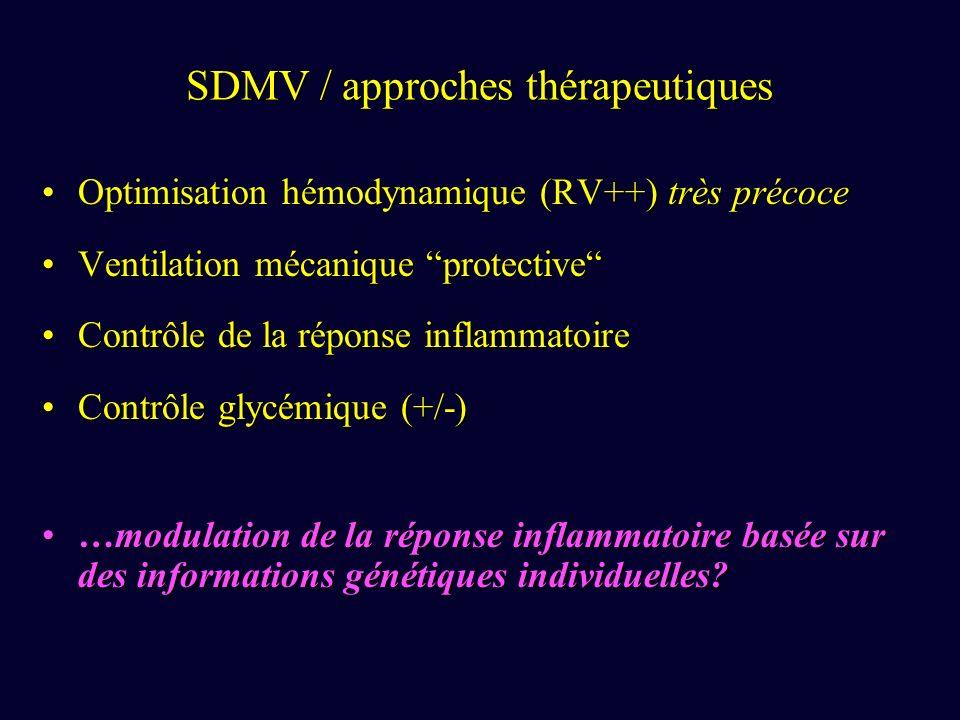 SDMV / approches thérapeutiques