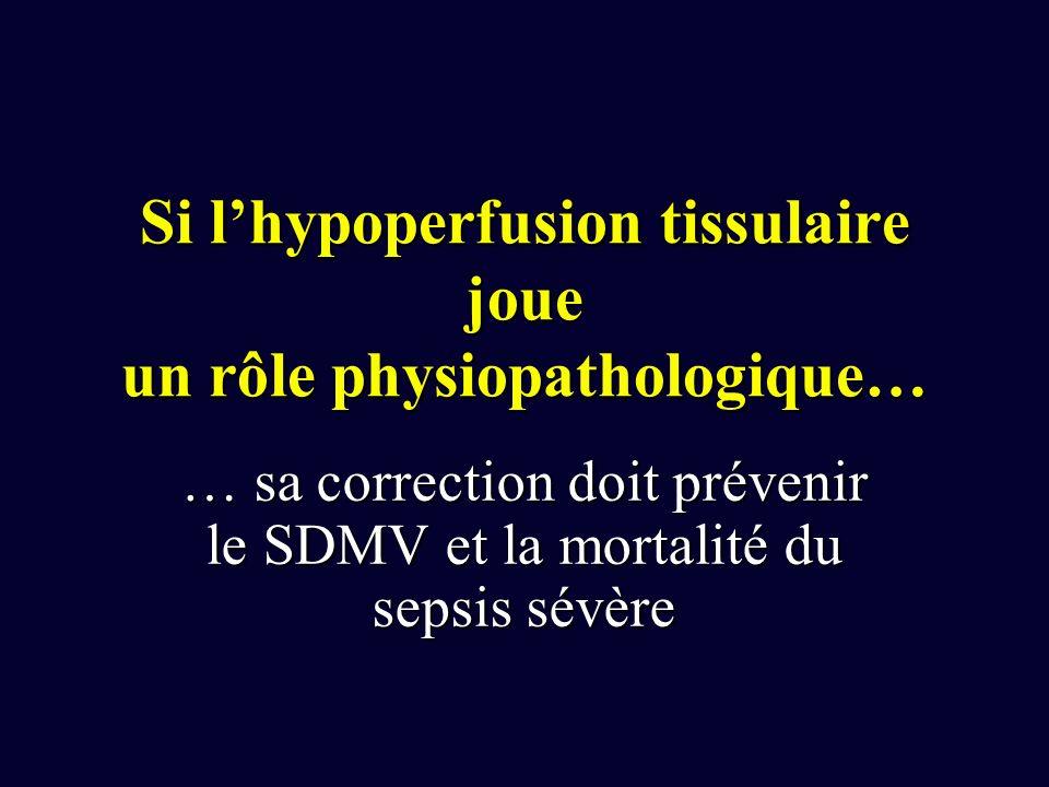 Si l'hypoperfusion tissulaire joue un rôle physiopathologique…