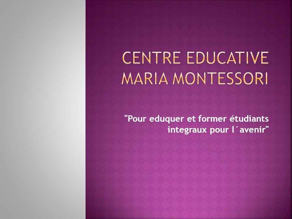 Centre educative Maria Montessori