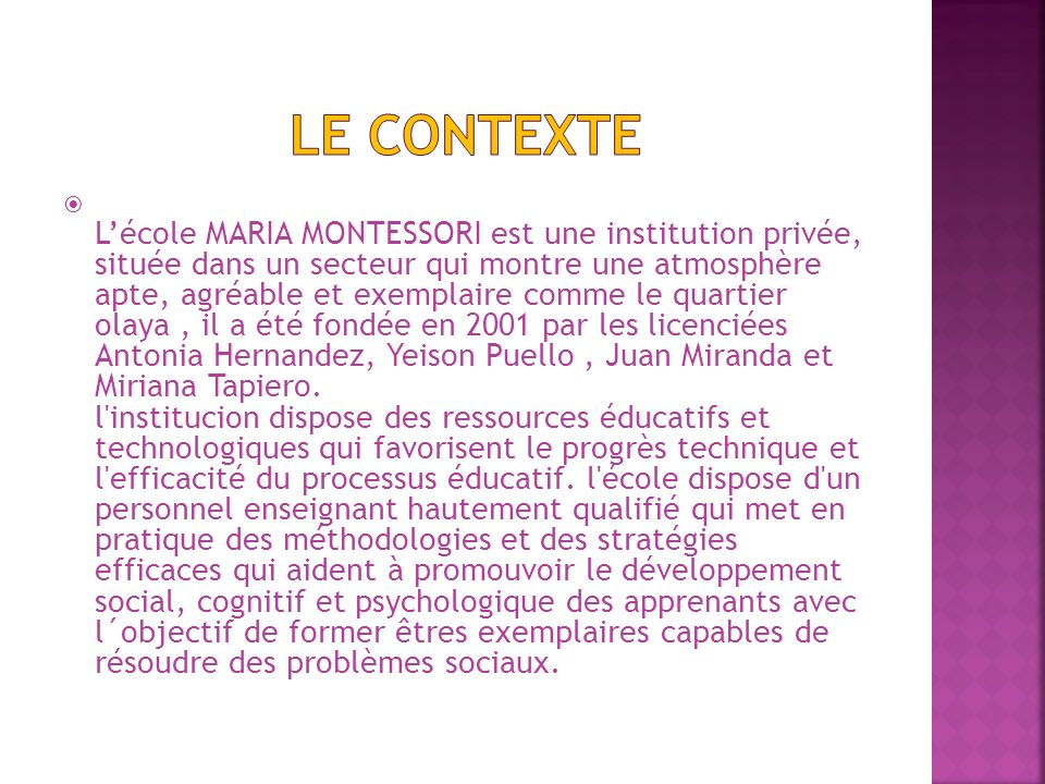 Le CONTEXTE
