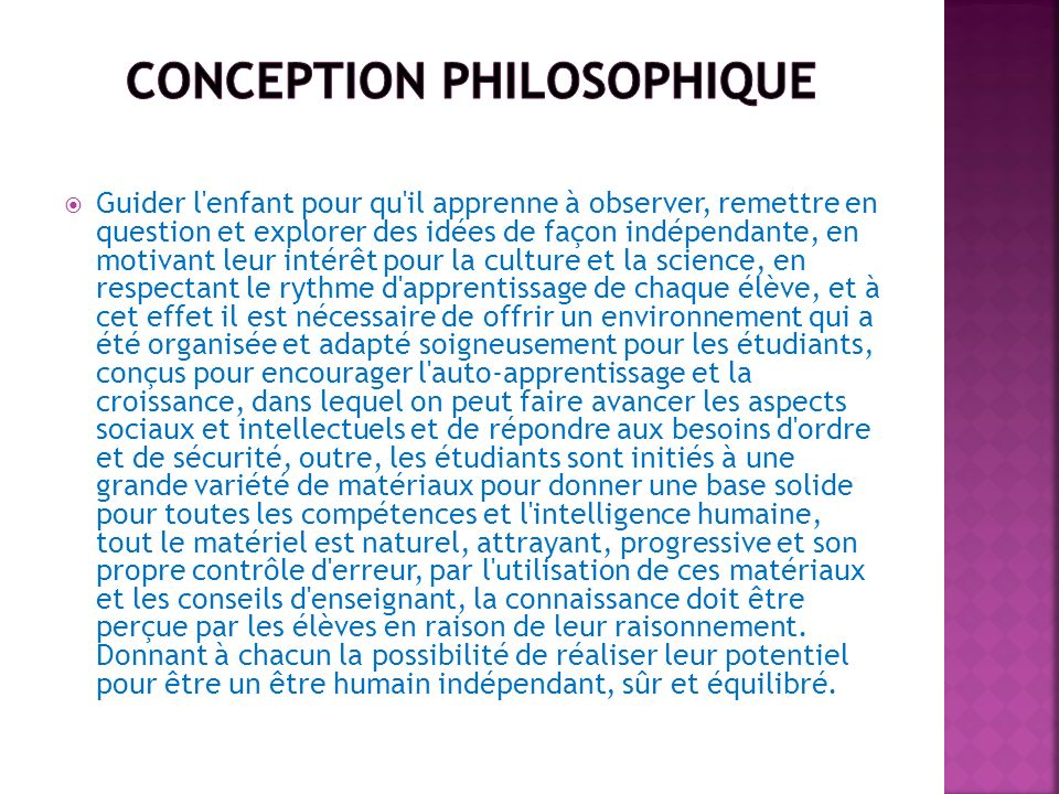 conception philosophique