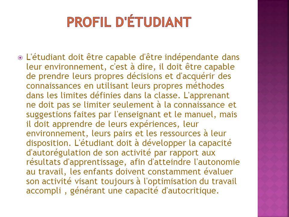 Profil d étudiant
