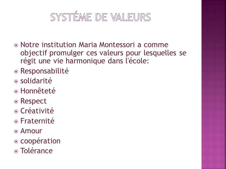 systéme de valeurs