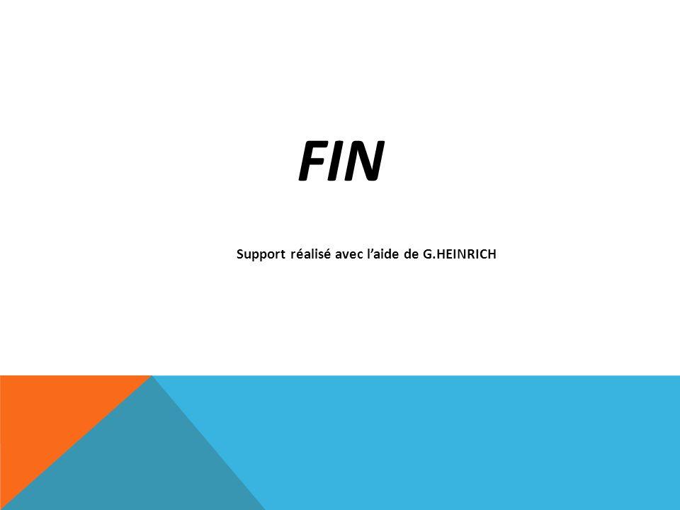 Support réalisé avec l'aide de G.HEINRICH