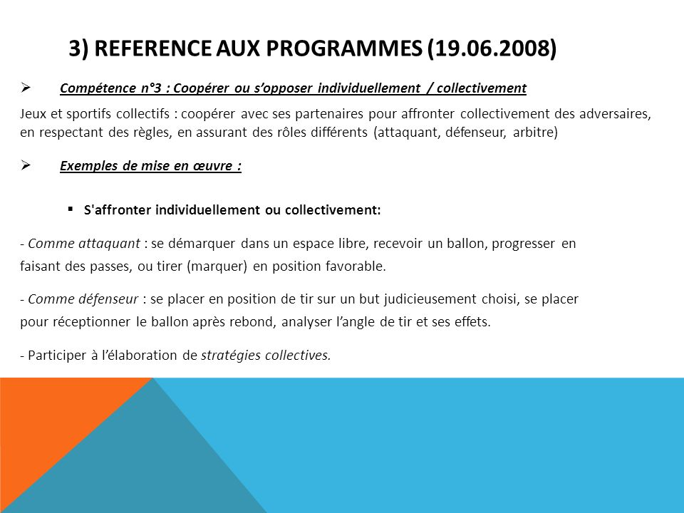 3) REFERENCE AUX PROGRAMMES (19.06.2008)